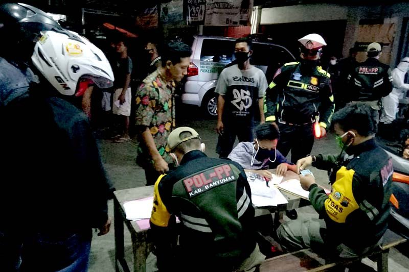 Puluhan orang terjaring operasi protokol kesehatan di Banyumas