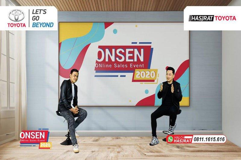 Hadir dengan Digi-Talk bersama Rio Motret  Onsen (Online Sales Event) Hasjrat Toyota berikan pengalaman digital terbaru