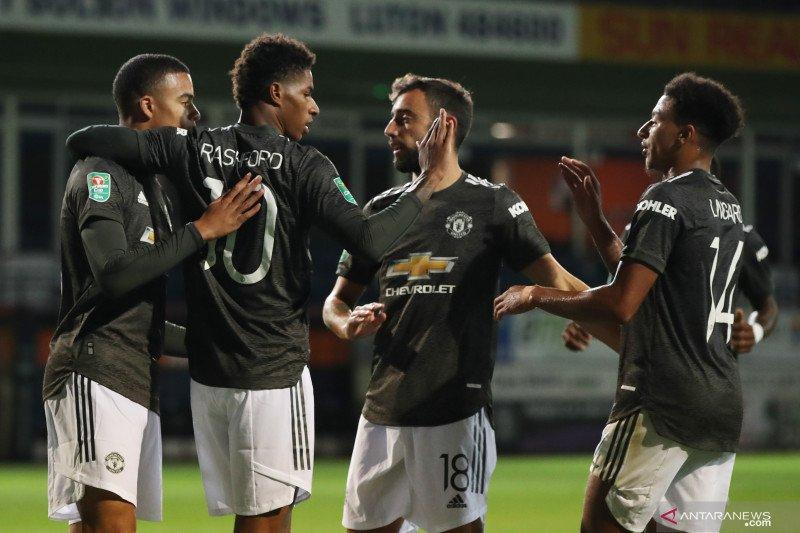 Kalahkan Luton, Manchester United melaju putaran empat Piala Liga