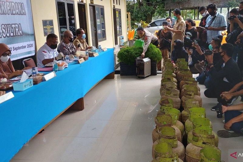 Polda Sulawesi Tenggara tetapkan lima tersangka penyelewengan elpiji bersubsidi