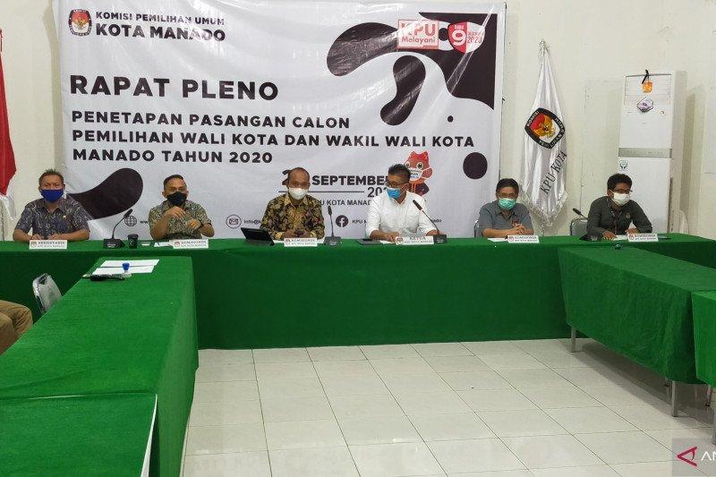 KPU  nyatakan empat Bapaslon Wali-Wawali Kota Manado memenuhi syarat