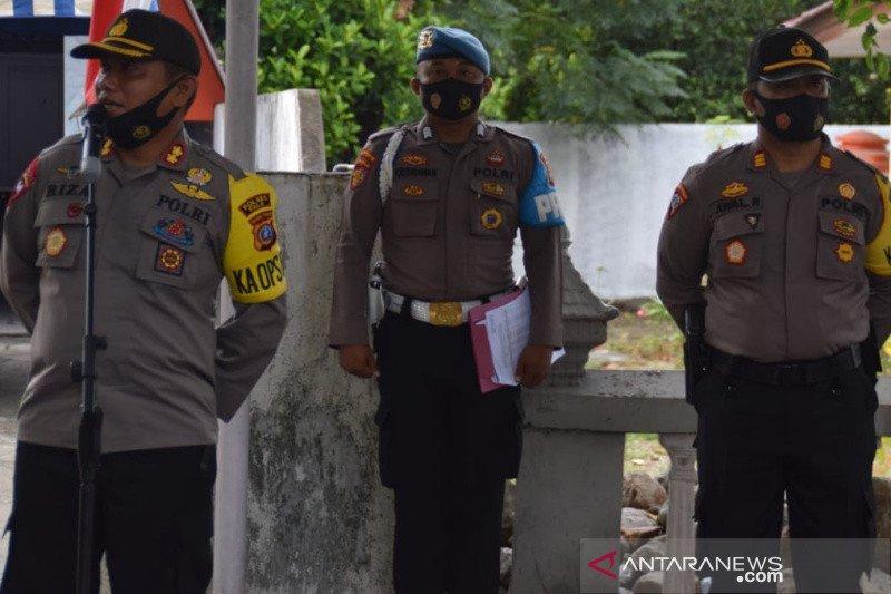 Polres Palu turunkan ratusan personel kawal penetapan peserta pilkada