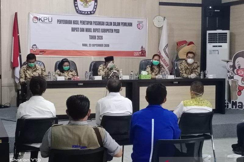 KPU Poso  tetapkan tiga pasangan calon bupati