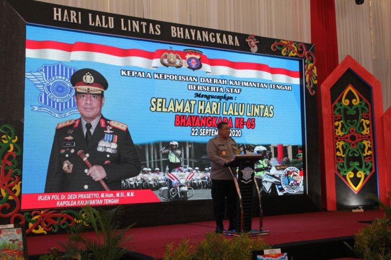 Kapolda Kalteng meluncurkan aplikasi TACS di Hari Lalu Lintas Bhayangkara
