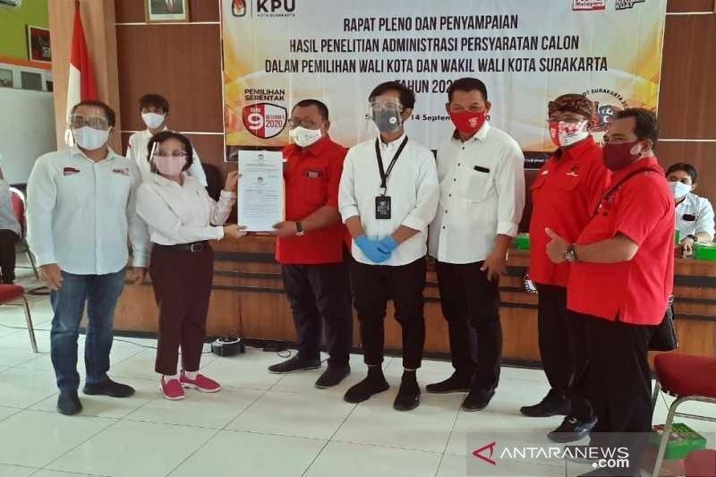 KPU tetapkan pasangan Gibran-Teguh dan Bajo calon Pilkada Surakarta