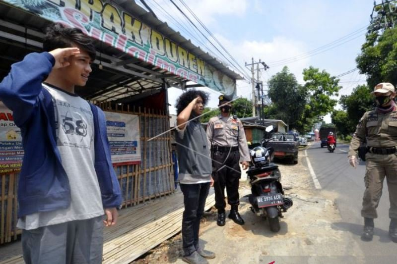Razia Yustisi Protokol Kesehatan di Lampung