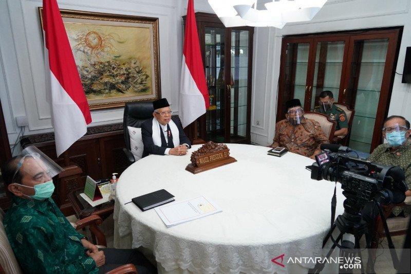 Wapres Ma'ruf Amin sebut keselamatan jiwa masyarakat Indonesia harus didahulukan