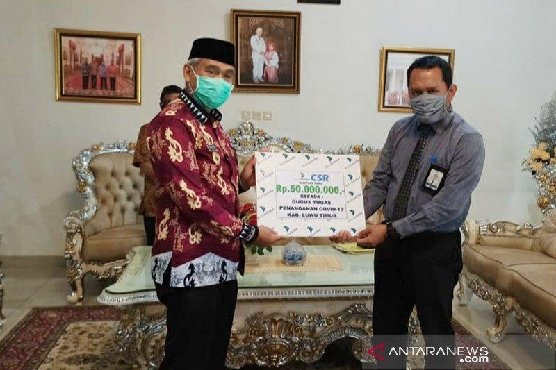 Bank Sulselbar serahkan bantuan ke GTPP COVID-19 Luwu Timur