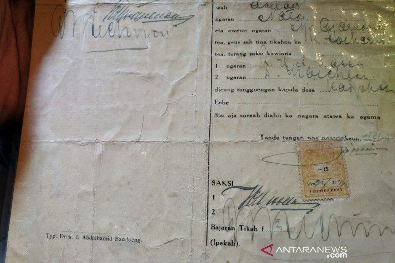Dispusip Kota Bandung tanggapi surat nikah Inggit-Soekarno yang dijual