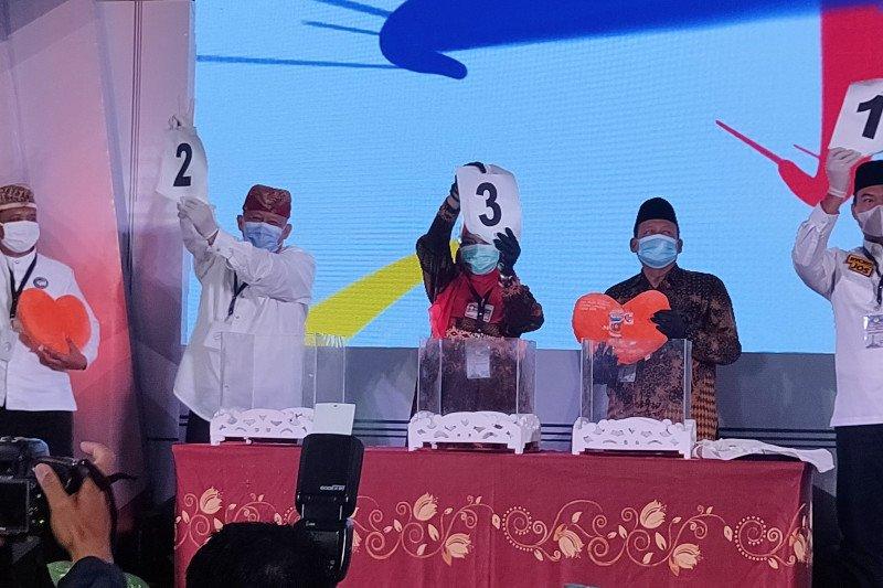 KPU Bandarlampung lakukan pengundian nomor urut pasangan calon