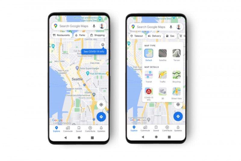 Google Maps hadirkan fitur untuk informasi tren kasus COVID-19