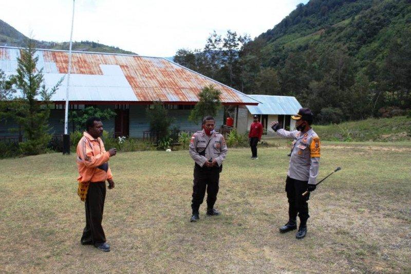 Kapolres Lanny Jaya sosialiasi protokol kesehatan di SMA Maki