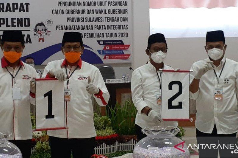 Gelar undian paslon, KPU Sulteng  terapkan protokol kesehatan