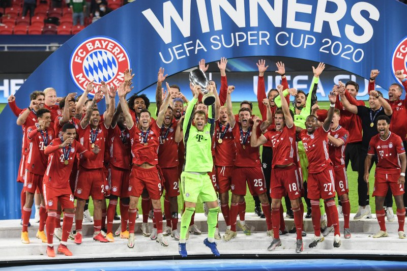 Bayern lengkapi caturgelar setelah menangi Piala Super Eropa