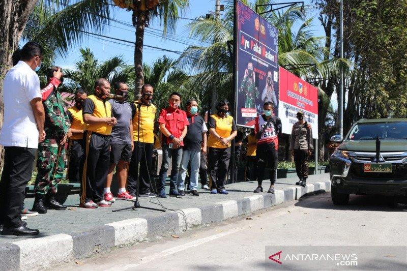 Polda Sulteng  apresiasi komunitas otomotif bantu warga terdampak wabah