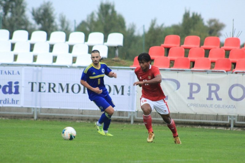 Meski kalah dari Bosnia-Herzegovina, Pelatih Shin: Pemain sudah bekerja keras