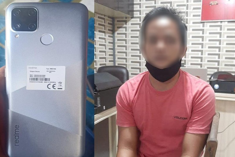 Curi handphone milik PNS DPMDes Kapuas, seorang oknum honorer ditangkap polisi