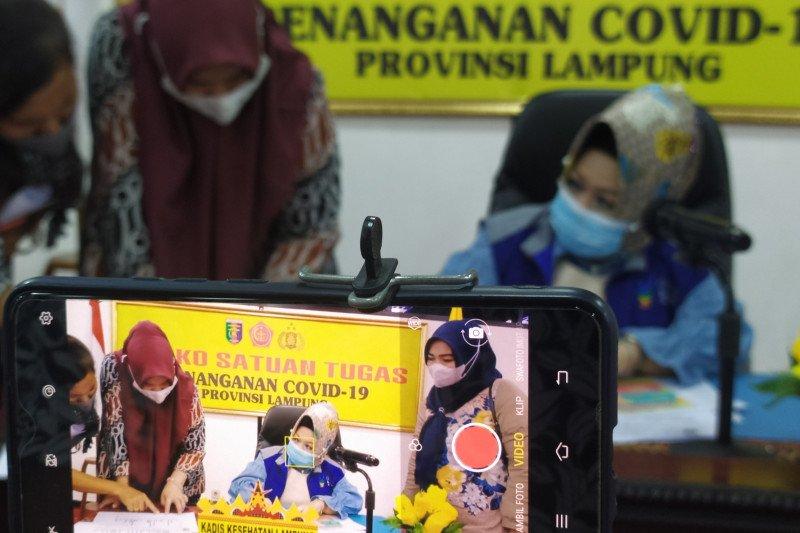 Pasien positif COVID Lampung bertambah 12, jumlah  totalnya jadi 826 kasus