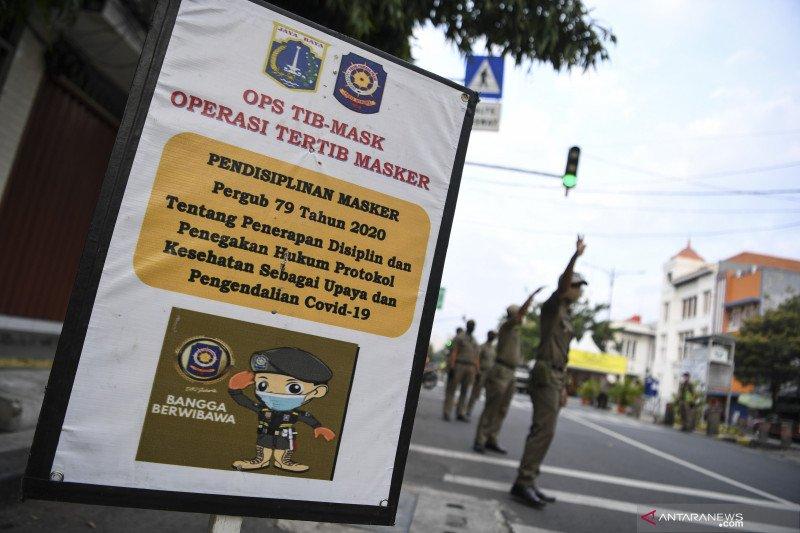 80 persen pelanggar tertib masker di Jakarta Barat adalah  anak muda