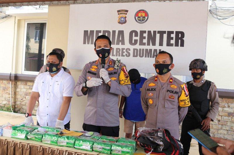 Polres Dumai Sita 14 kg sabu dikendalikan dari Lapas Pekanbaru