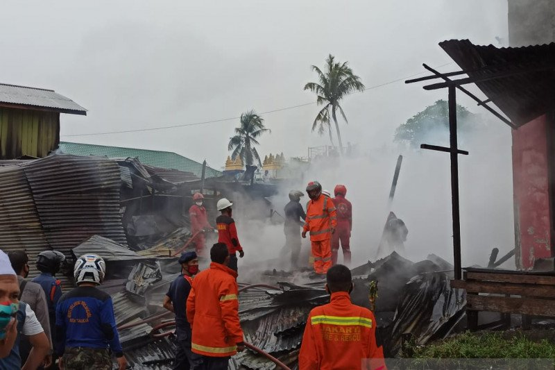 Empat rumah di Tarakan habis dilalap api