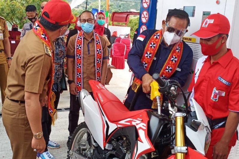 Pertamina resmikan tiga SPBU Satu Harga daerah terpencil Lampung Barat