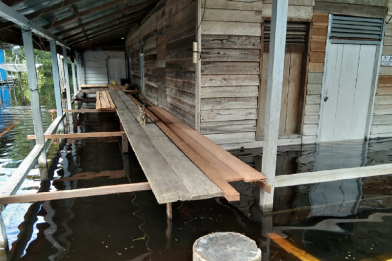 W Kalimantan: 216 homes flooded as Lake Sentarum overflows