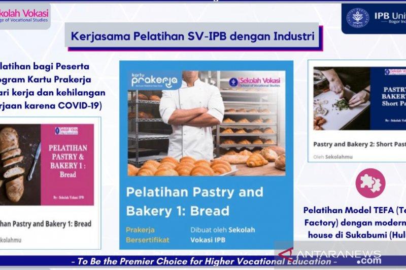 Sekolah Vokasi IPB gelar pelatihan pastry untuk peserta Kartu Prakerja