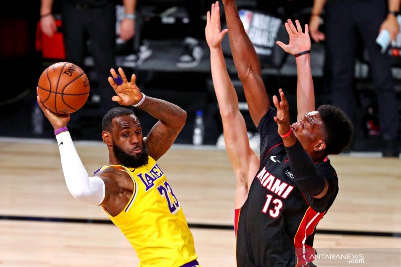 Gim 1 final NBA, Lakers dominan untuk menangi atas Miami Heat