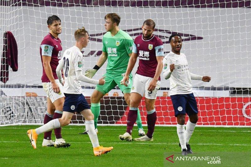 Manchester City ke perempat final Piala Liga setelah singkirkan Burnley