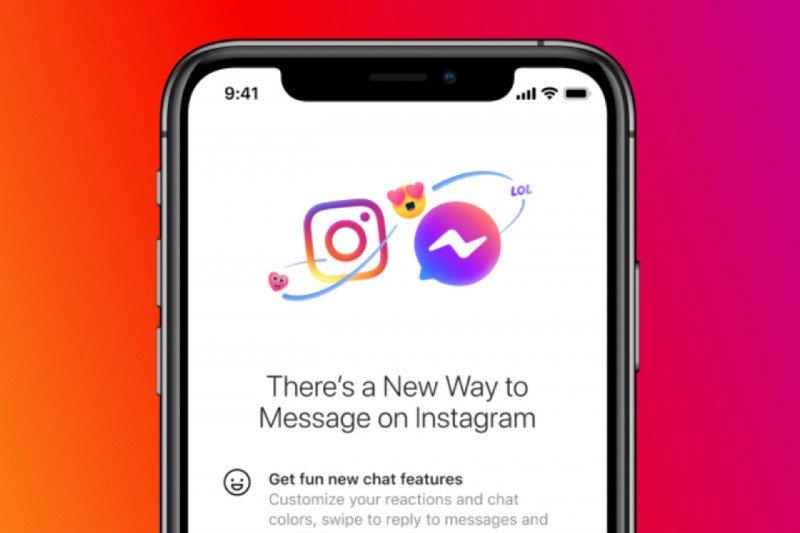 Facebook integrasikan  pesan Instagram dan Messenger