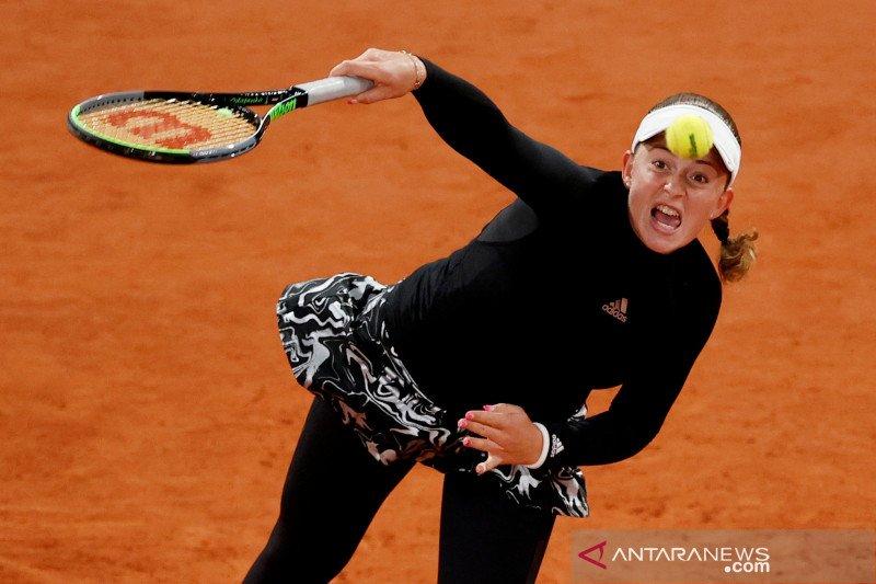 Ostapenko singkirkan Pliskova pada putaran French Open 2020
