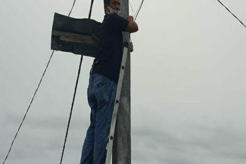 Perusda Biniyau gandeng PT Numbay pasang TV kabel di Kampung Yoboi