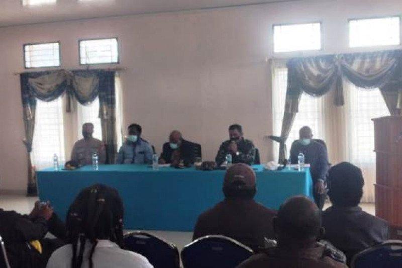 Danrem 173/PVB dan Bupati Intan Jaya hadiri pertemuan terkait meninggal Pdt Yeremias Zanambani