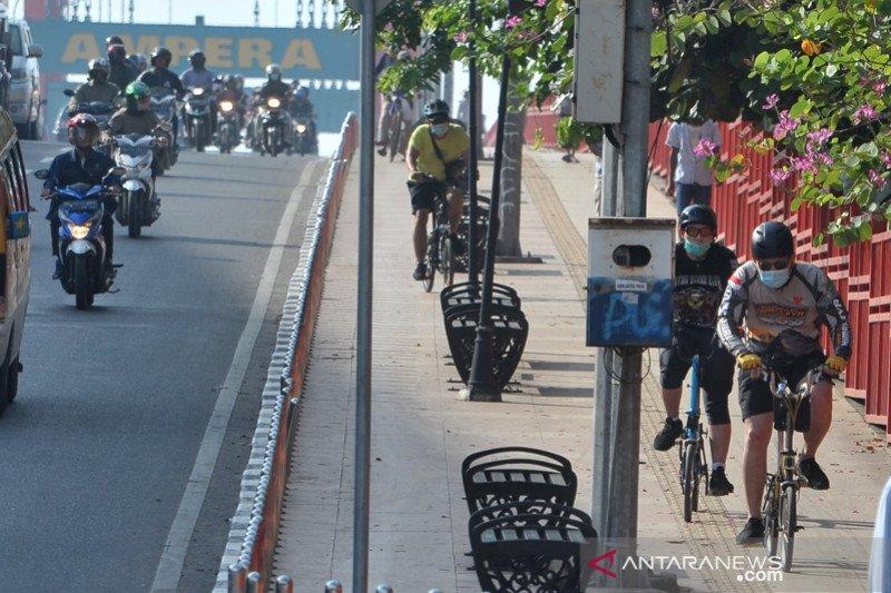Pembangunan jalur sepeda di Palembang