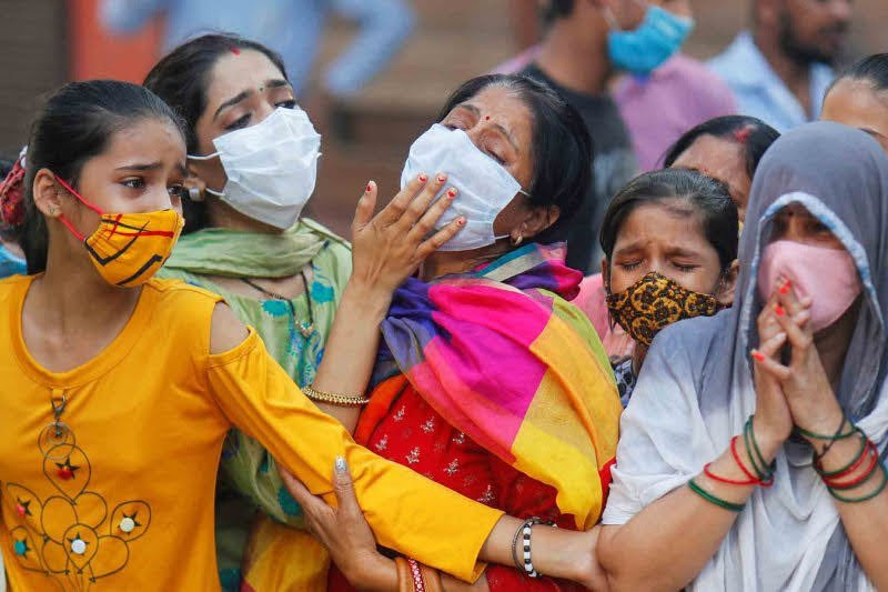 Kasus infeksi corona di India naik 74.442 jadi 6,63 juta