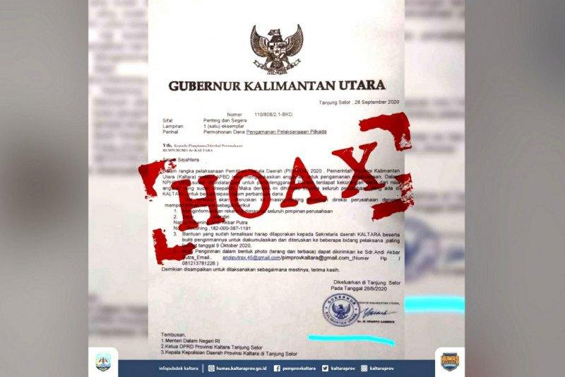 Sekprov: surat permohonan bantuan pengamanan Pilkada 2020 adalah hoaks