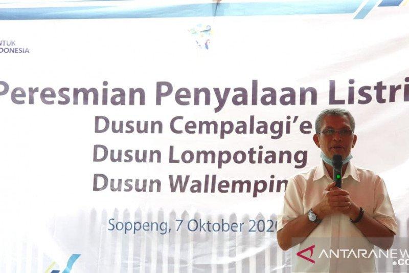 PT PLN listriki tiga dusun terpencil di Kabupaten Soppeng
