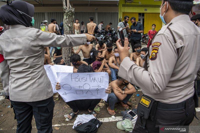 Polisi Amankan Pelajar di Palembang