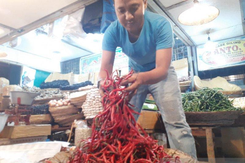 Harga cabai merah naik di Pasar Raya Padang