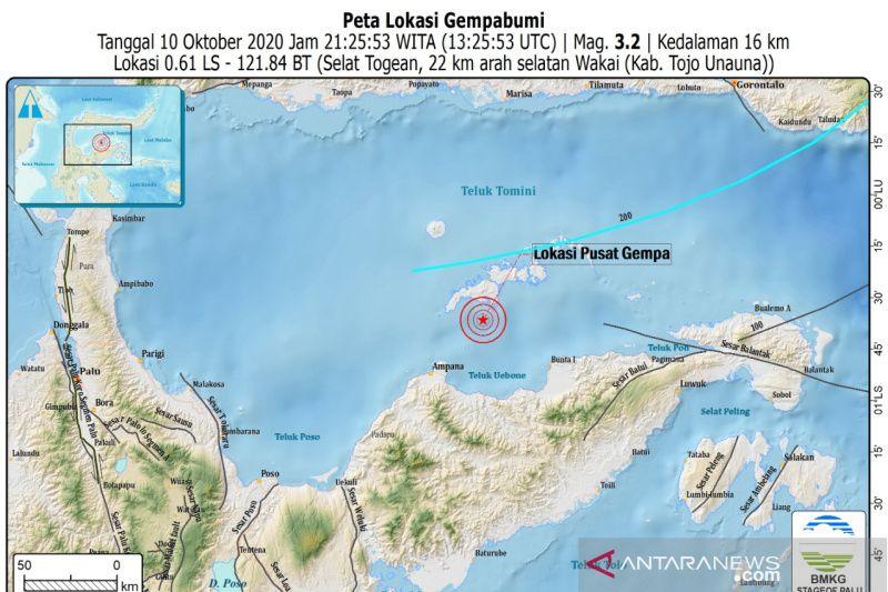 Gempa magnitudo 4.0 guncang Kepulauan Togean