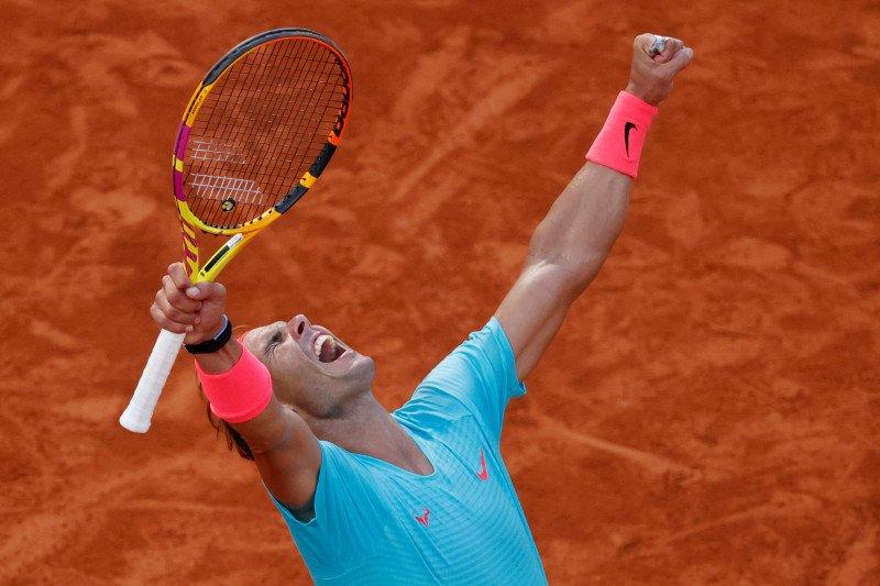 Rafael Nadal melaju lagi ke final French Open untuk gelar Grand Slam ke-20