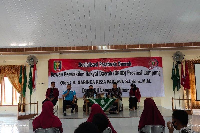 Garinca sosialisasi perda ke Pengurus Cabang IMM Lampung Timur
