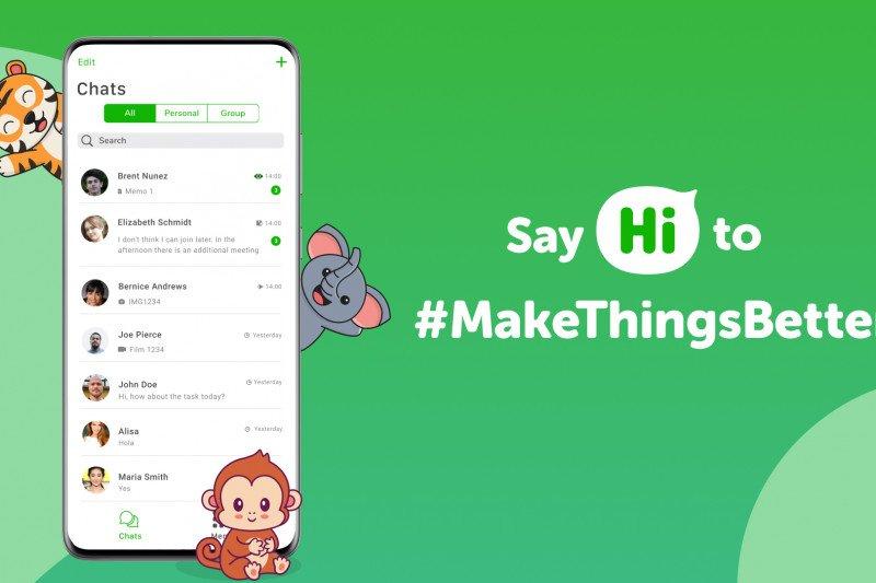 Aplikasi pesan instan buatan Indonesia Hi App buka uji coba beta
