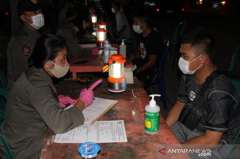 Operasi yustisi kembali menjaring ratusan warga di Palangka Raya