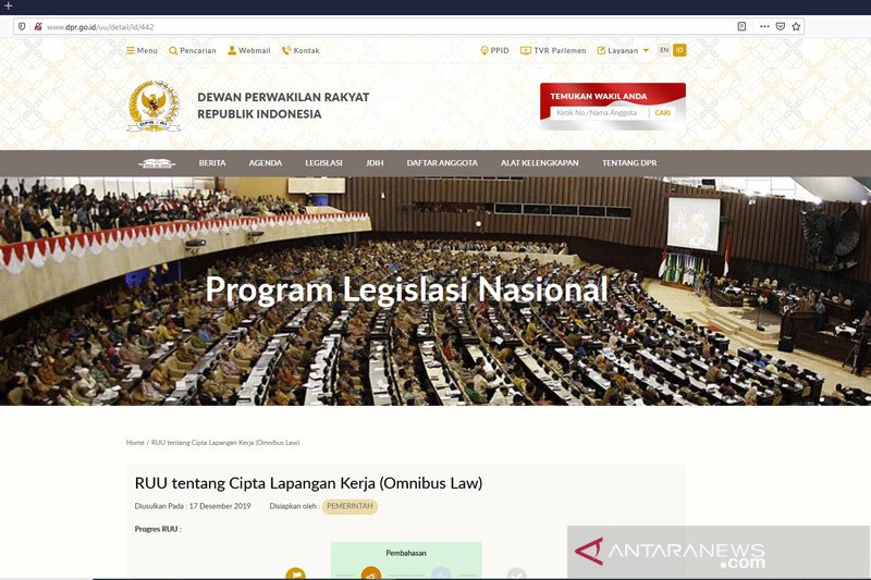Politisi Rossdinal Salim sebut omnibus law tebas