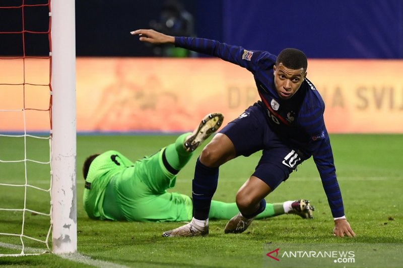 Gol Kylian Mbappe antar Prancis menang 2-1 atas Kroasia