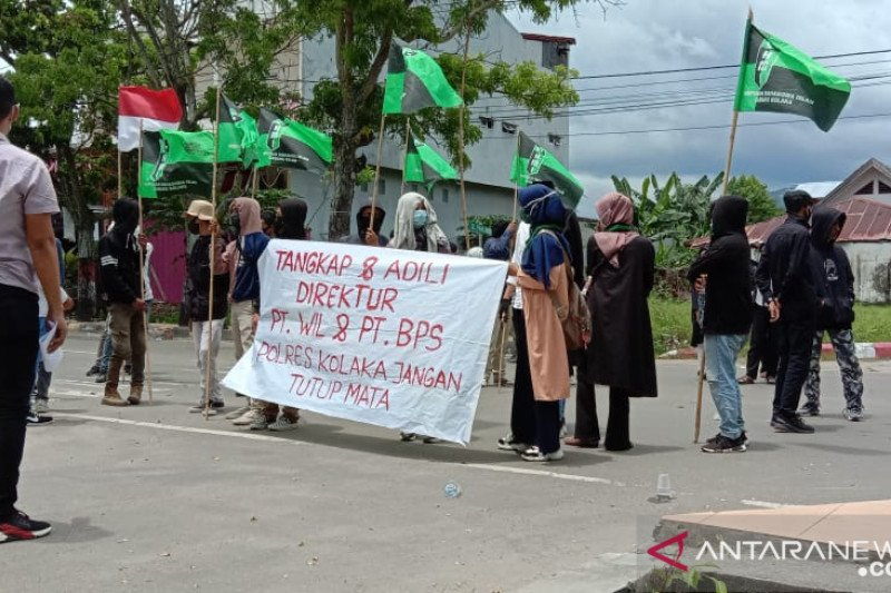 Aktivus HMI demo di Polres Kolaka