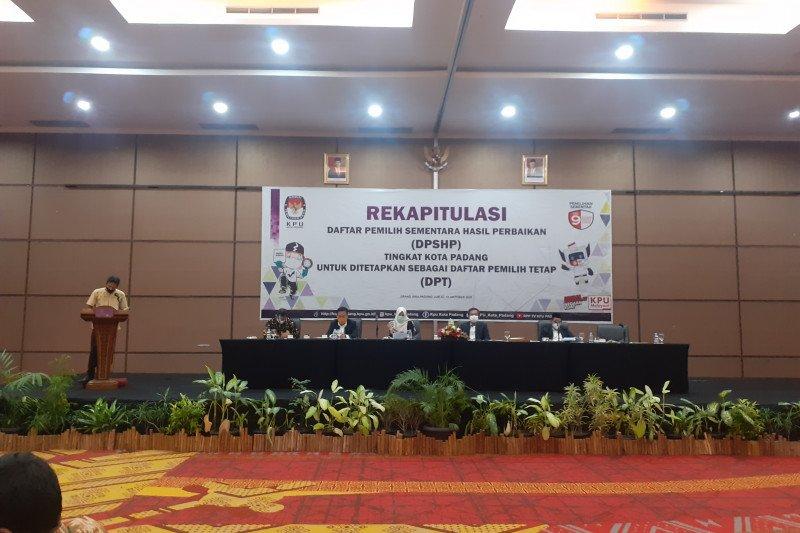KPU Padang tetapkan DPT Pilgub Sumbar 613.513 orang pemilih