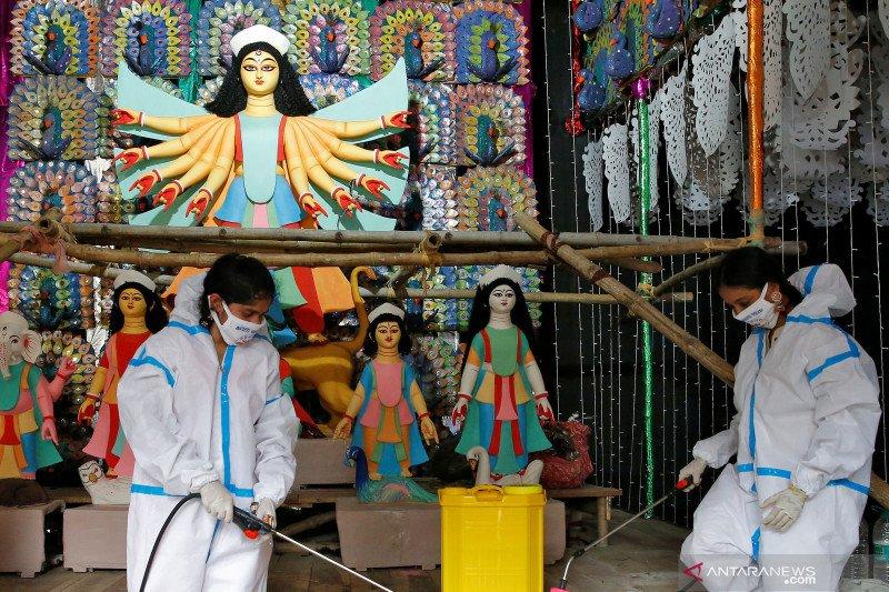 Di India, infeksi virus corona mencapai 7,55 juta